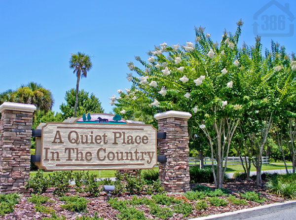 quiet place in counry neighborhood