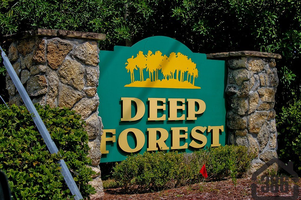 deep forest neighborhood sign