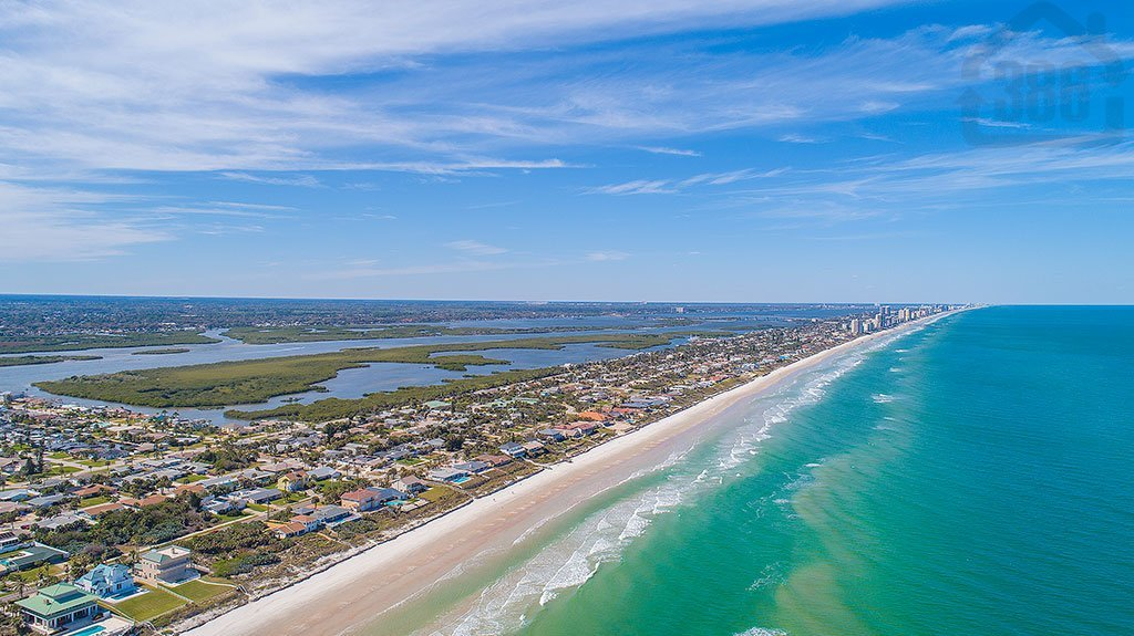 aerial view ponce daytona shores coast