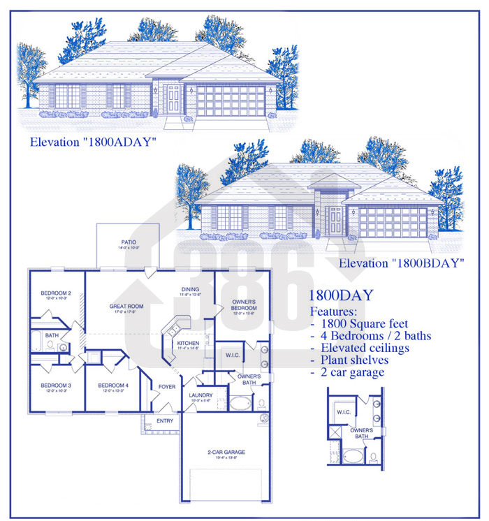 bayberry lakes floor plan 1800