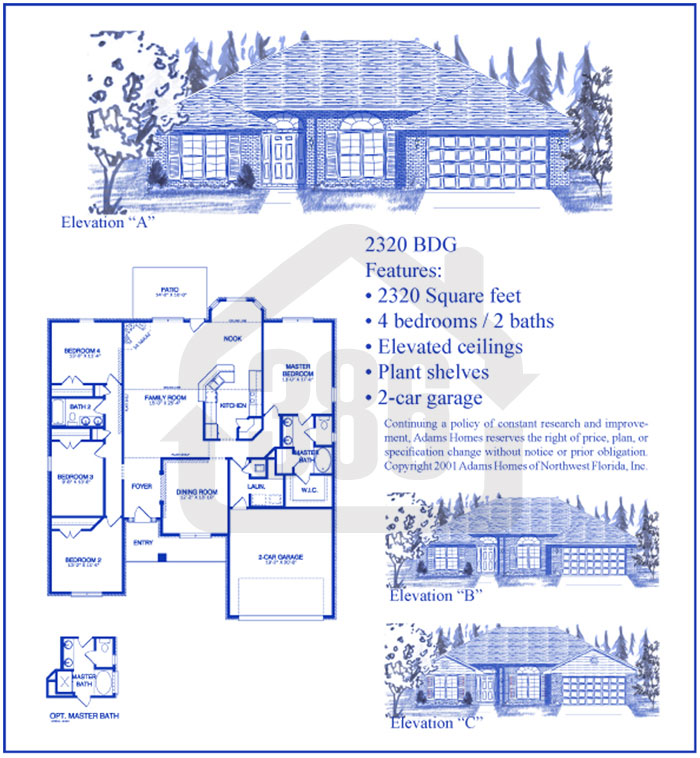 bayberry lakes floor plan 2320