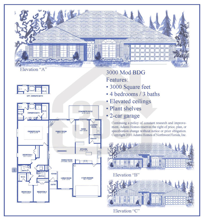 bayberry lakes floor plan 3000