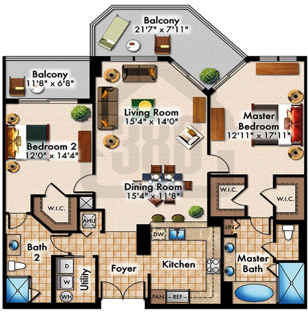Fascinating 40 condo floor plans 2 bedroom inspiration for Condo floor plan