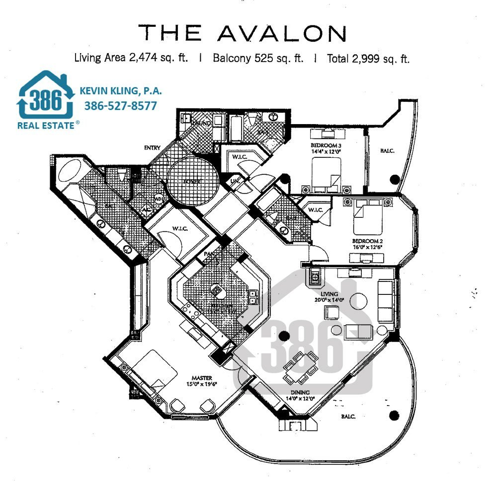 Ocean villas condos floor plans daytona beach shores for Condo floor plan