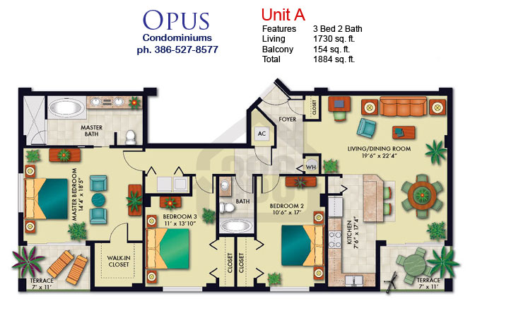 Opus Condo Floor Plans Daytona Beach Shores Condos