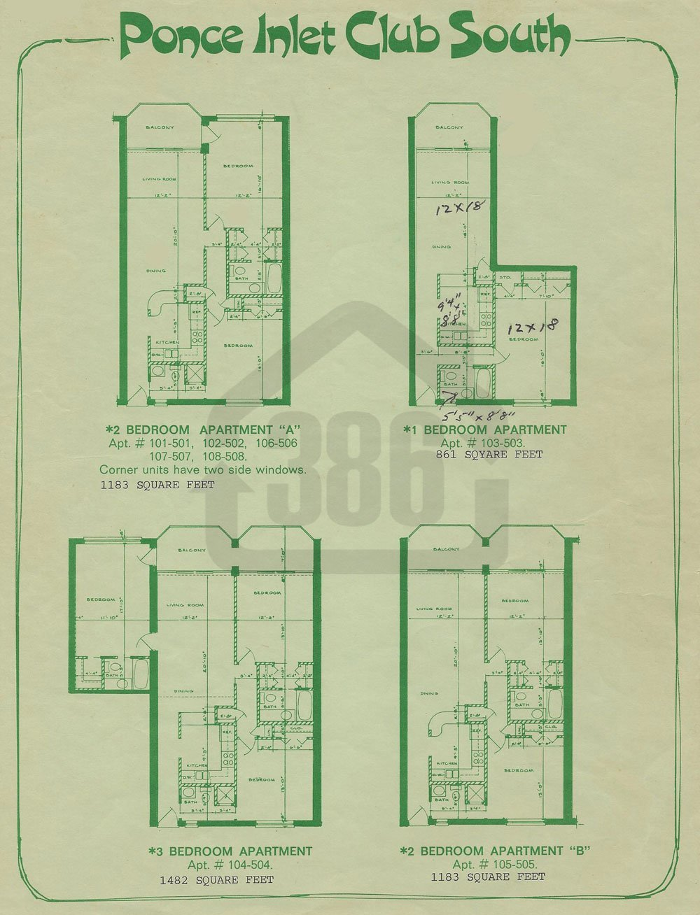 ponce inlet club south floor plan