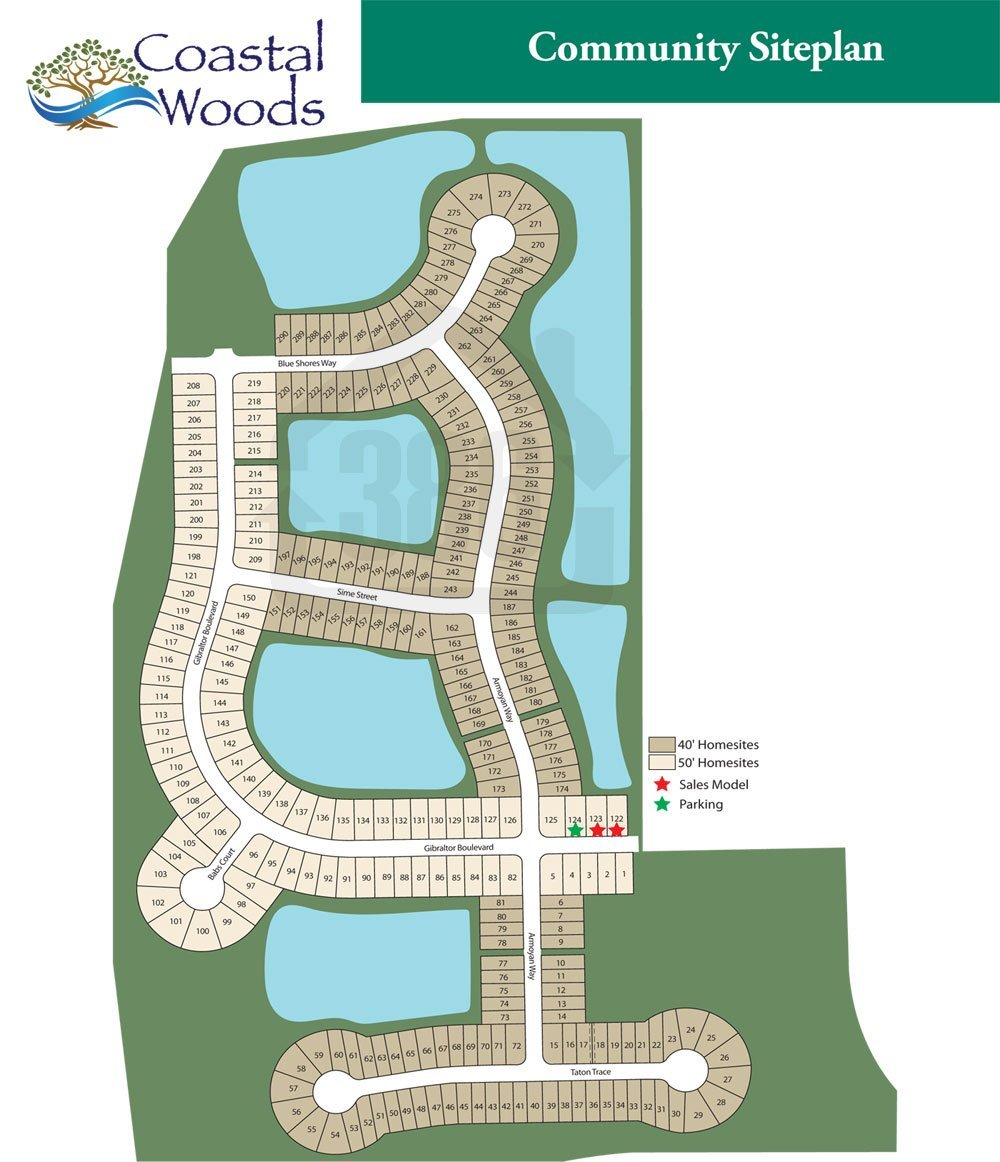 coastal woods site plan