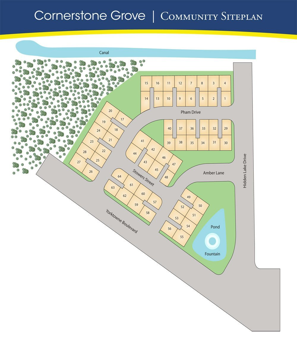 cornerstone grove site plan